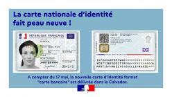 nouvelle carte d'identité format « carte bancaire »