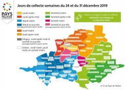 Jours de collecte des déchets ménagers semaine du 24 et 31 décembre 2019