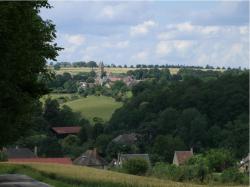 Vue panoramique du bourg de saint quentin